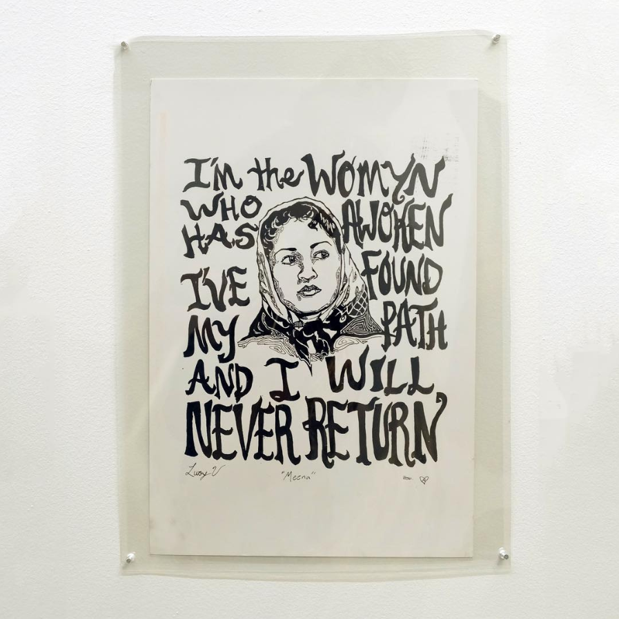 Lucy V., I'm the Womyn Who Has Awoken.../Meena, 2013, c/o Collection of Interference Archive & Paul Robeson Galleries