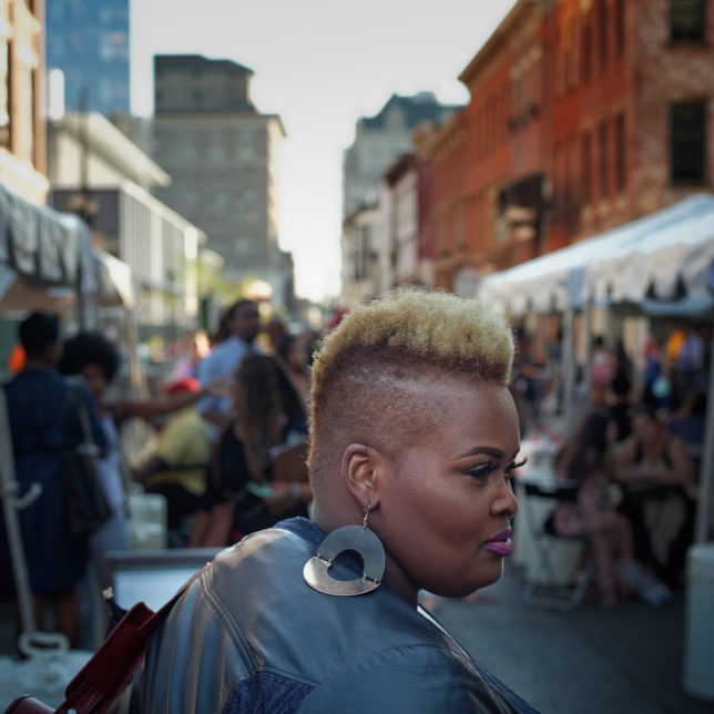 Exploring the stalls on Halsey Street during a pop-up festival in Newark, NJ. c/o Ed Kashi