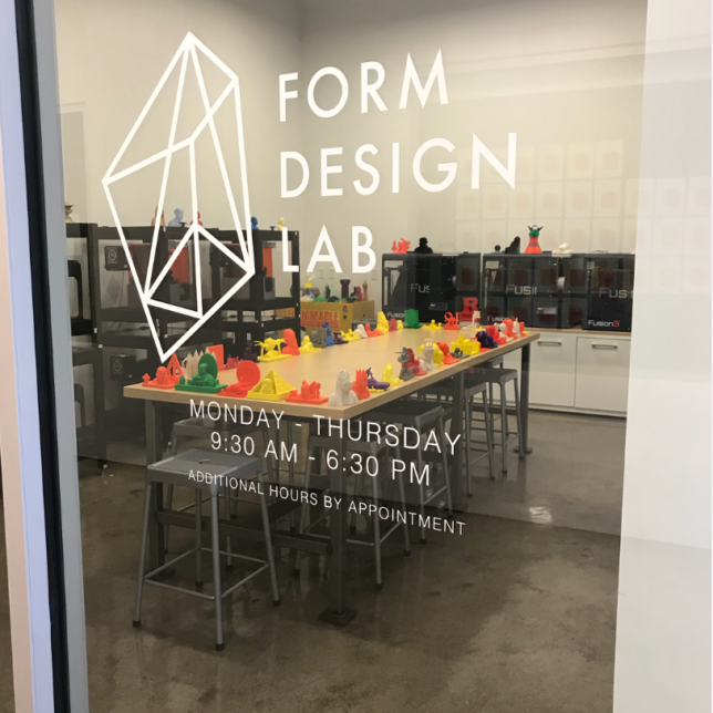 Looking into the Form Design Lab. c/o Form Design Studio.