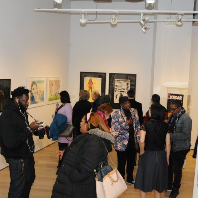 The crowd at the opening. c/o Paul Robeson Galleries