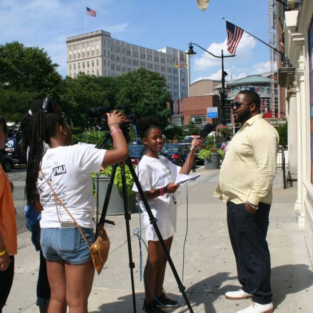 Learning how to interview, no script required. Madison Abdul-Sabur did a great job. She was the one of the youngest members. c/o Kadijah Taylor