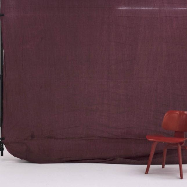 Muslin, Cranberry, 10'x24'. c/o Shine Portrait Studio