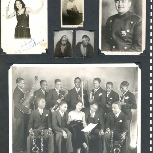 Images from Ismay Duvivier's scrapbook, circa 1927-1930, Ismay and George Duvivier papers, realia and audiovisual materials, Institute of Jazz Studies, Rutgers University Libraries. c/o Institute of Jazz Studies