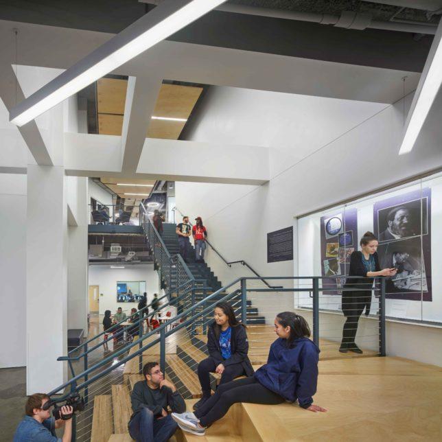 Express Newark Second floor lobby by Halkin Mason Photography, c/o KSS Architects.