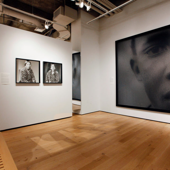 (Right) Anne-Karin, Furunes, Of Faces X (Portraits of Archive Pictures) & Wendy Red Star, Clara White Hip from the series Grandmothers (I Come As One But I Stand As Ten Thousand). c/o Art Paxton & Paul Robeson Galleries
