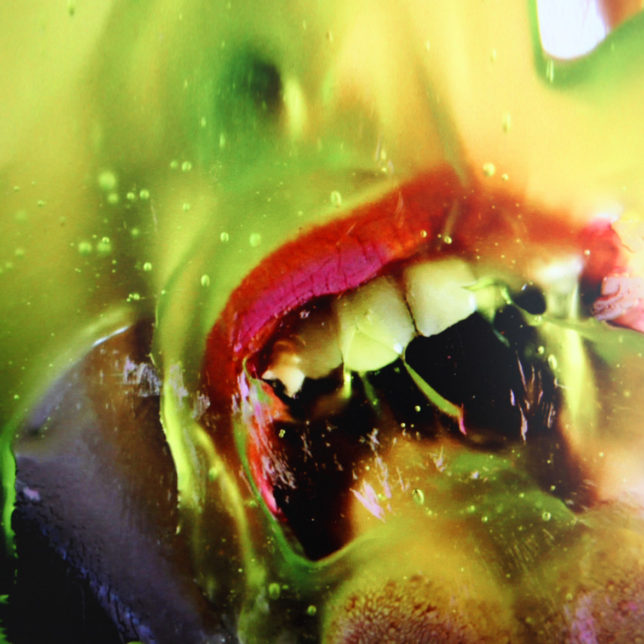 Marilyn Minter, detail of Green Pink Caviar, from the series MnM 92, 2009, single-channel video, 7 minutes 46 seconds. c/o Marilyn Minter and Salon 94, New York