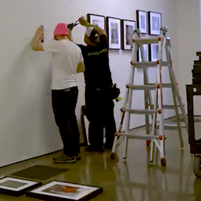 "Installation of ""In Pursuit of Beauty"" exhibition. c/o Express Newark Indies."