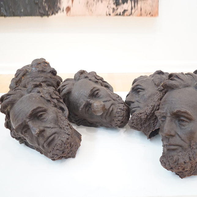 An image of work by German Pitre called 7 Lincoln Heads. c/o the artist.