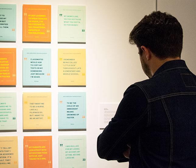 Opening Reception for the 2019 Graphic Design Capstone Show. c/o Gustavo Morais