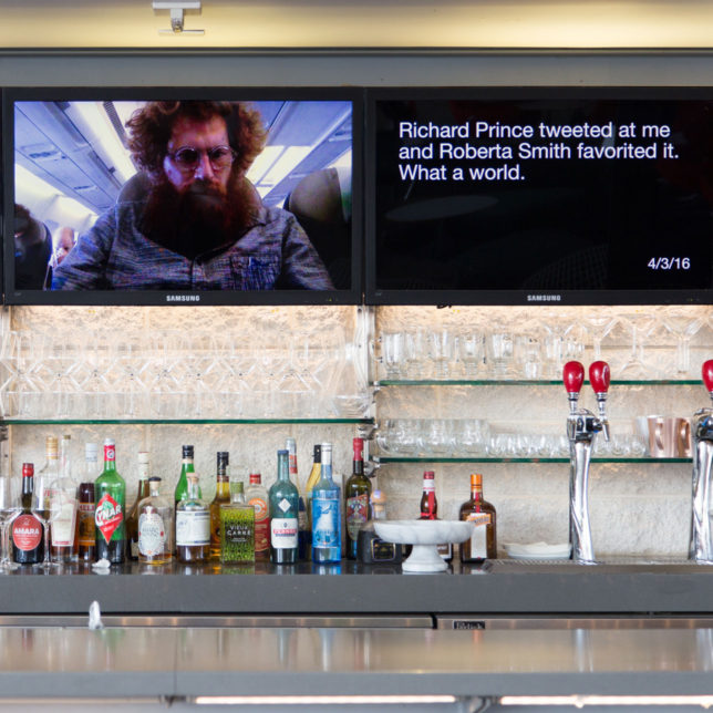 Installation view of Michael Mandiberg, Quantified Self Portrait (One Year Performance), 2016–17 at the Los Angeles County Museum of Art, February 16 – August 8, 2017