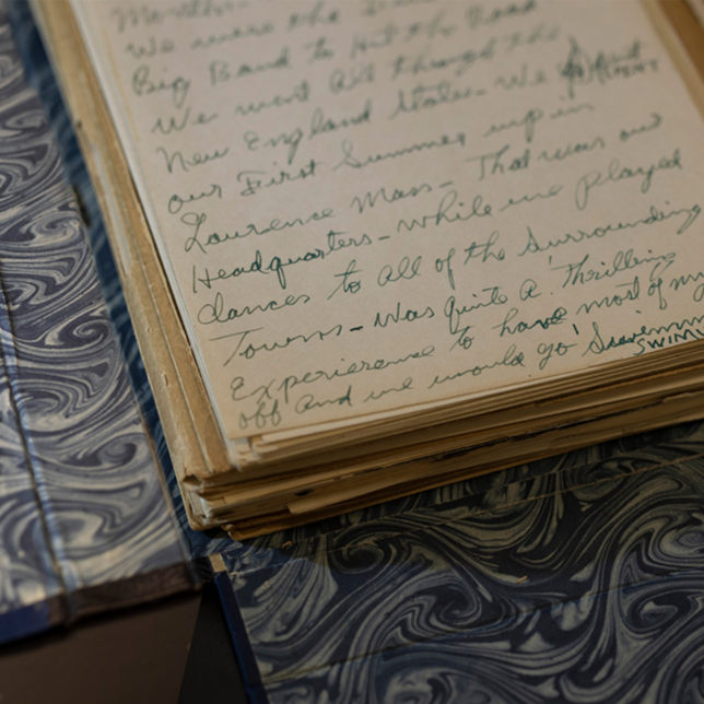 Detail of Louis Armstrong's autobiographical manuscript. c/o Anthony Alvarez.