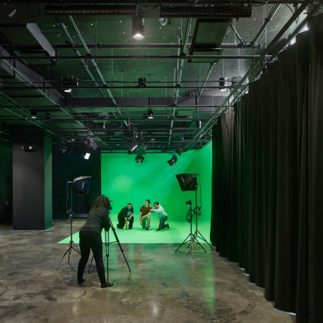 Pictured: the Express Newark Video Production Studio