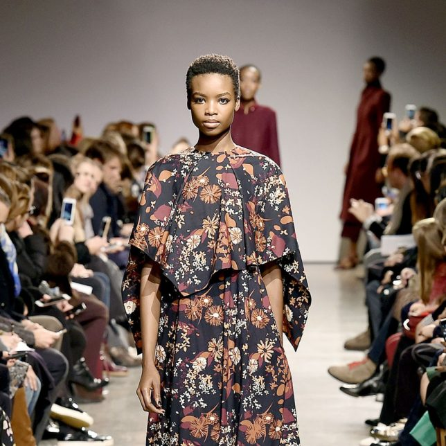 Model Walking the Catwalk at fashion show