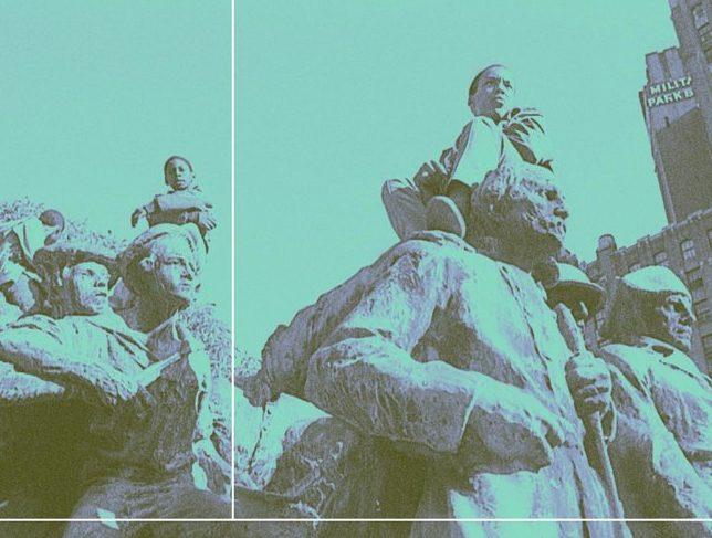 Monument in Military Park Newark NJ