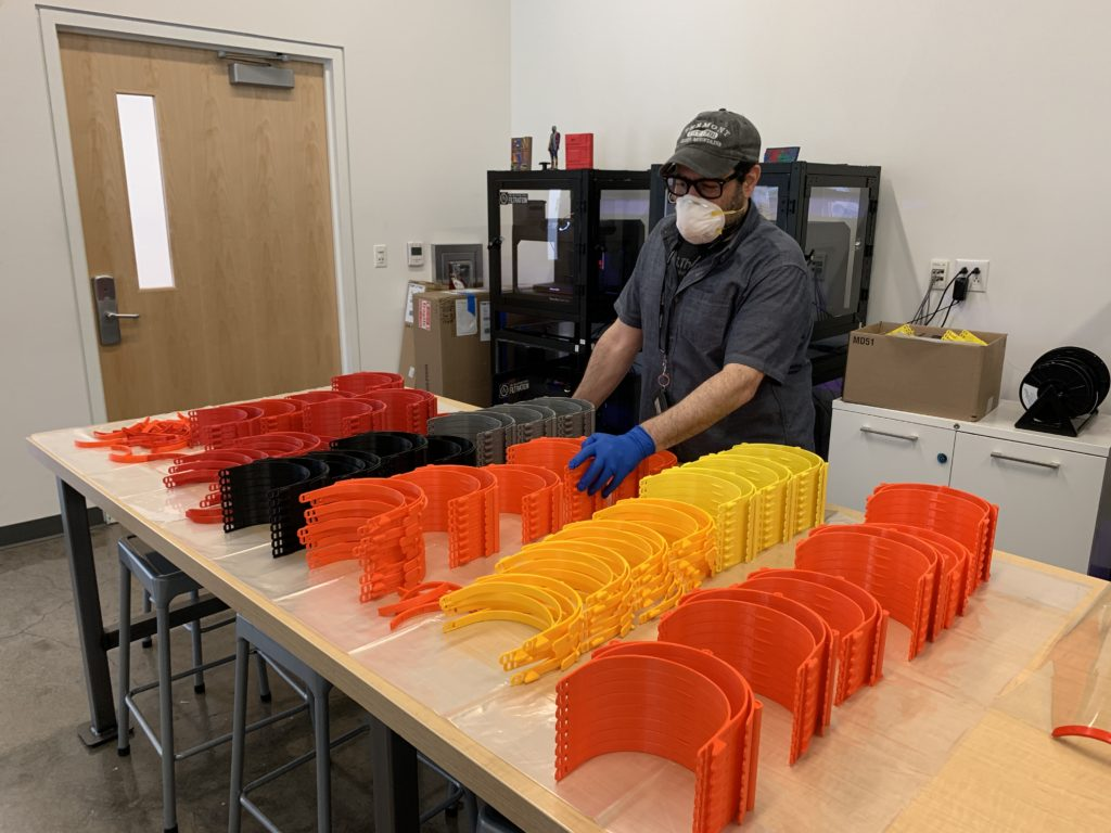 Express Newark's Keary Rosen Uses 3D Printers to Make PPE