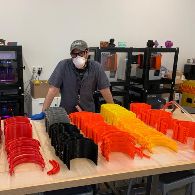 Express Newark's Keary Rosen Uses 3D Printers to Make PPE