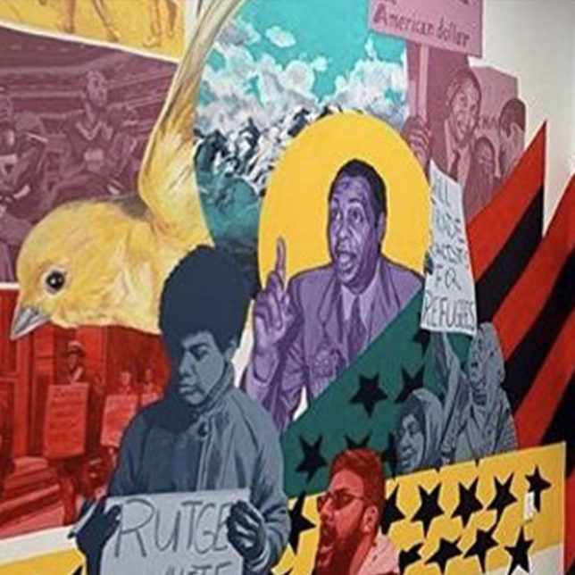 Layqa Nuna Yawar, The Robeson Paean: Activist, 2020. Wall mural. Courtesy of the artist and Paul Robeson Galleries.