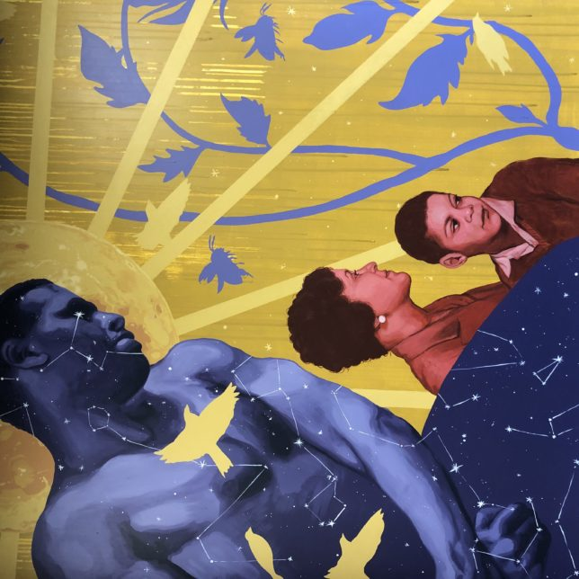 Detail of one of the Robeson Murals. Robeson was a hero to so many. Artist: Lenny Correa