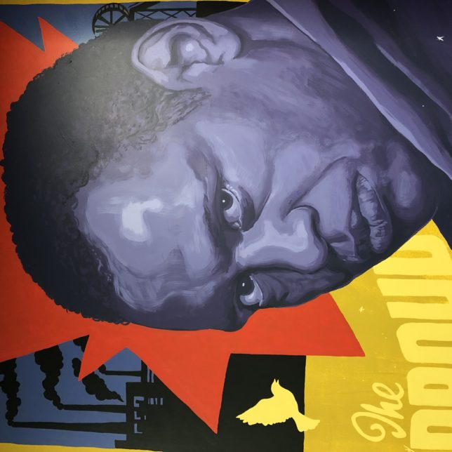 Detail of one of the Robeson Murals. Artist: Lenny Correa